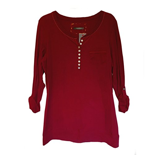 womens ladies pyjama lounge top tunic long sleeved cotton rich burgundy - 4109yeJPYWL - Womens Ladies Pyjama Lounge Top Tunic Long Sleeved Cotton Rich Burgundy