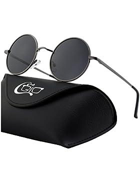CGID E01 Estilo Vintage Retro Lennon inspirado círculo metálico redondo gafas de sol polarizadas para hombres...