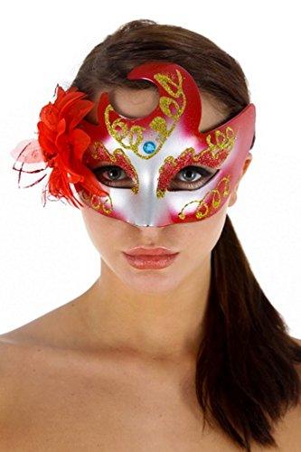 Kostüme Mask Arade (Maske Wolf Kostüm und Abend Libertin. Rosa Netzs, Pailletten, Juwel auf der Stirn, Satinband zu)