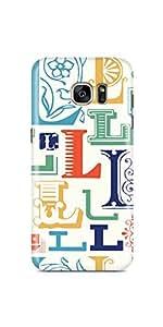 Casenation Alphabet L Samsung Galaxy S7 Edge Semi-transparent Case Case