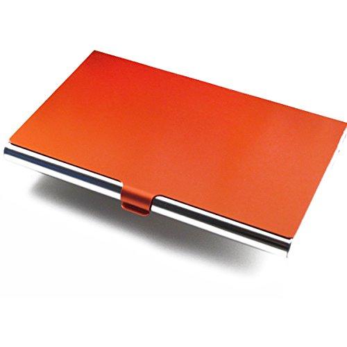 ness Name Kreditkarte Halter Karte Edelstahlgehäuse (Orange) (Name Karteninhaber)