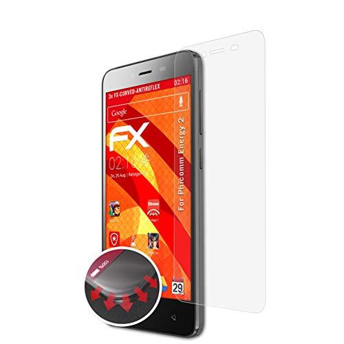 atFolix Schutzfolie passend für Phicomm Energy 2 Folie, entspiegelnde & Flexible FX Bildschirmschutzfolie (3X)