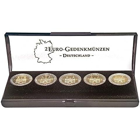 Estuche monedas para un curso de monedas conmemorativas 2-Euro alemanas [Lindner S2090], Formato, 150 x 47 x 22 mm