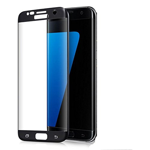 Navjivan 360 Degree full Curved ultra HD Clear Tempered Glass Screen Protector with Samsung galaxy S6 Edge (Black)