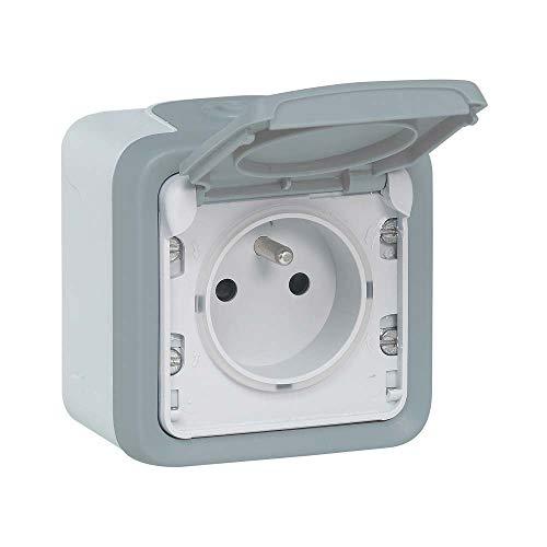 Legrand Plexo LEG69905 color gris Interruptor de superficie, completo