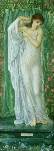 Leinwandbild 40 x 110 cm: Sommer (Jahreszeiten-Serie) von Edward Burne-Jones / Bridgeman Images - fertiges Wandbild, Bild auf Keilrahmen, Fertigbild auf echter Leinwand, Leinwanddruck