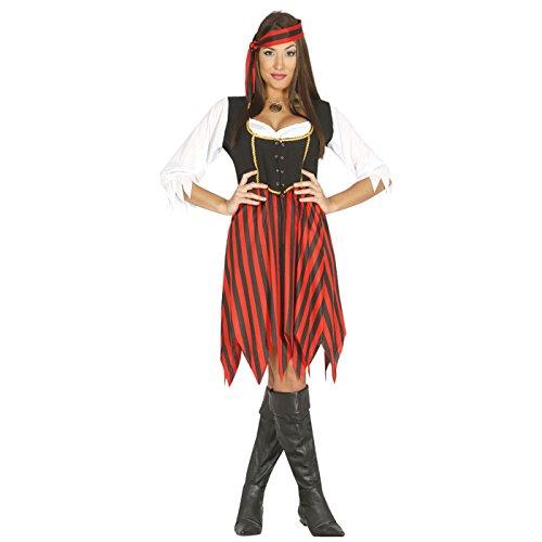 Guirca- Costume Donna Pirata D'Oltremare, Multicolore, Taglia Unica, 80220