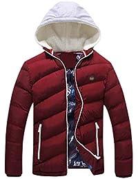 Yiiquan Uomo Leggero Cappotto Piumino di Inverno Cappotto Piumino da Caldo  con Cappuccio f0d24aed53e