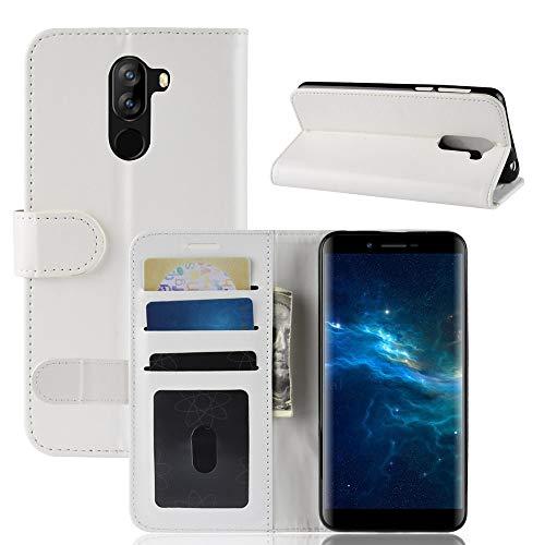 Yadasaro Oppo Realme 2 Leder Hülle, Ultra Slim Handyhülle Case Bookstyle Flip Leder PU Shockproof Vollschutz Schutzhülle für Oppo Realme 2 Braun