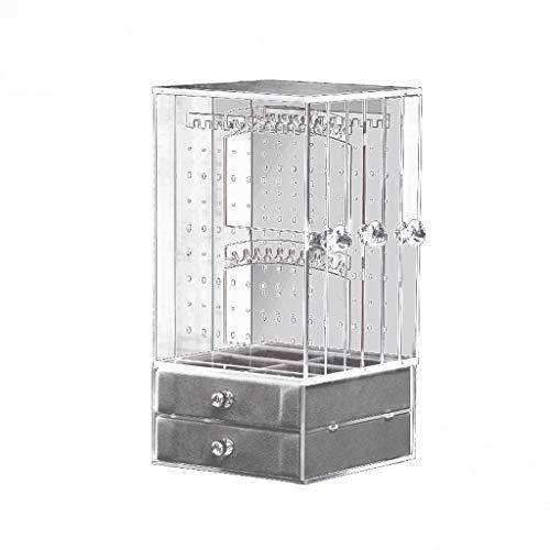 GHMM Obstkörbe Schmuck Ständer Rack Box, Transparent Acryl Veranstalter Anzeige Ohrringe Armbänder Halsketten Dekoration (größe : 13x13x25.4cm) -