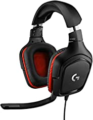 Logitech G332 Cuffie Gaming Cablate, Audio Stereo, Driver da 50 mm, Jack Audio 3.5 mm, ‎Microfono Flip-To-Mute