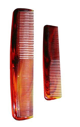 Set de 2 pièces pour homme peigne 125 x 190 x 30 mm et 40 mm-couleur : marron (9004)