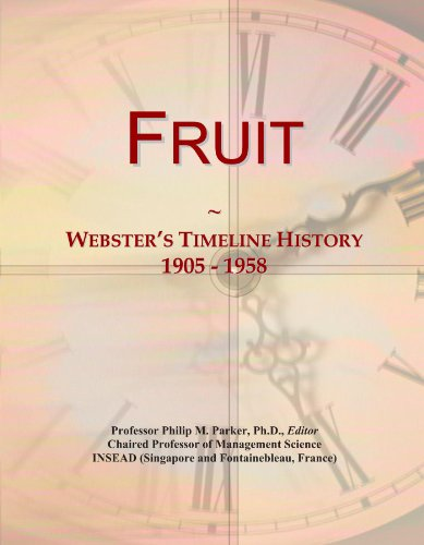 Fruit: Webster's Timeline History, 1905-1958