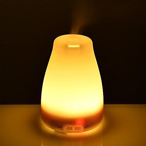 Olio essenziale diffusore, AGPtek 100ML Aromaterapia Diffusore con Colore 7 che cambia lampade a LED, la modalità di regolazione automatica Nebbia funzione di spegnimento - per la casa, Yoga, Spa, Camera da letto