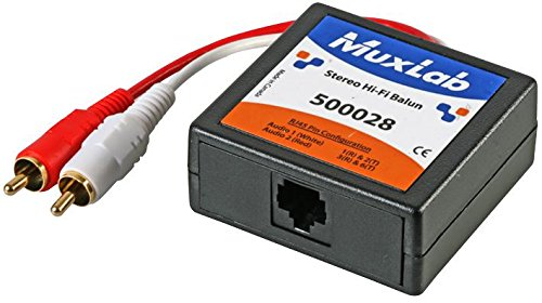 Muxlab 500028CAT5Audio-Balun Stereo 2x Phono [1] (steht ProGrade) - Cat5-stereo