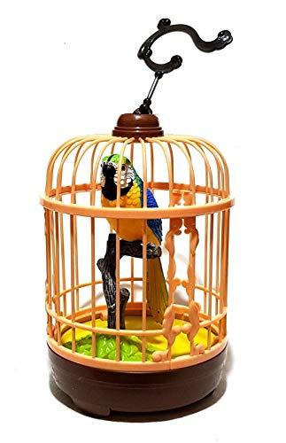 Papagei Bewegungsmelder Bewegungssensor Zwitschert Pfeift Vogel Vogelvoilere