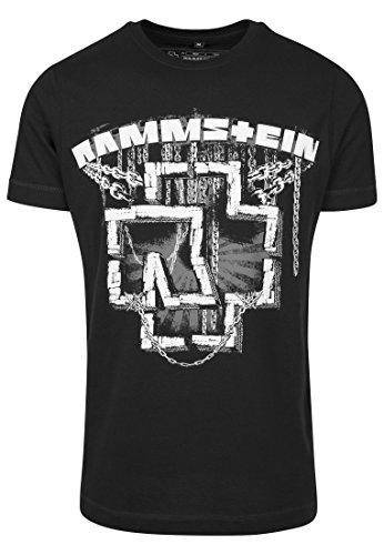 Rammstein uomo in catene tee maglietta, uomo, in ketten tee, nero, l