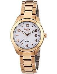 Boccia  B3224-04 - Reloj de cuarzo para mujer, con correa de titanio, color oro rosa