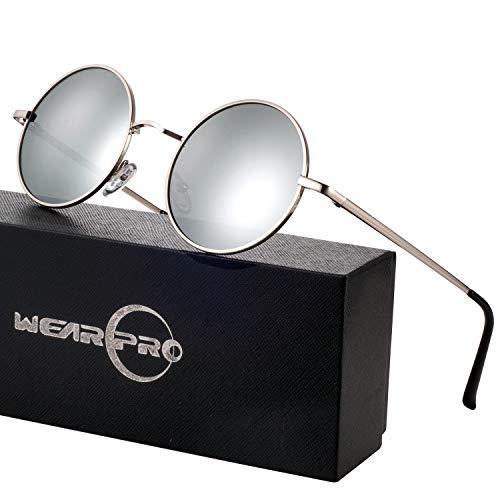 Runde Sonnenbrille Herren Damen Runde Polarisiert Sonnenbrille Herren Damen Retro Vintage Sonnenbrille für Herren Damen Unisex UV400