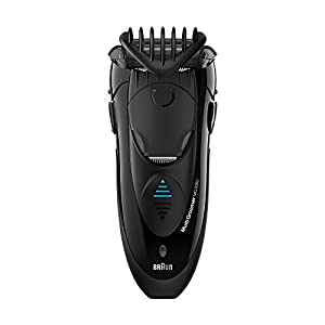 Braun Wet & Dry MG5050 Rasoio Elettrico Rifinitore MultiGroomer, Rade, Rifinisce e Regola, Tutto in 1, battery/mains, battery operated;led indicators;mains power;protection cap;rechargeable;trimmer