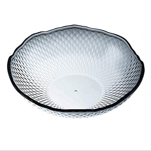 NBRTT Transparente Plastic Snack Plate Bowls Fruit Tray Glass Modern Creative Home Crystal Candy Bowl Salat Elegant Clear Hard Reusable Perfektion für Desserts,Gray