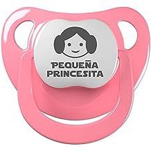 Chupete Pequeña princesita. Chupete friki, chupete bebé parodia Star Wars - Princesa Leia.