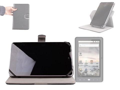 DURAGADGET Housse rotative en effet cuir pour tablette Coby Kyros 8, Creative ZiiO, Dell Venue 8, Denver TAB-80012 et 80011 – mode 360° portrait ou paysage – Garantie 5 ans