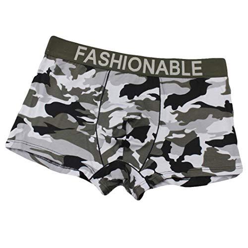 Igemy Männer Camouflage Knickers Herren Boxershorts -