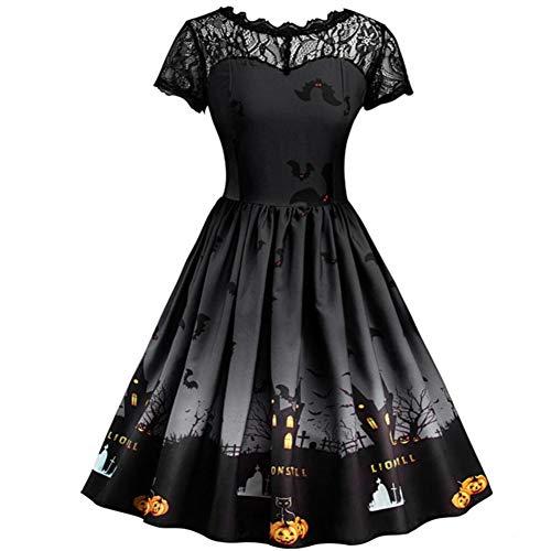 Bornbayb Halloween Kleider für Damen und Mädchen Lace -