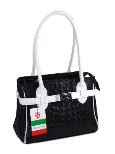 bellir-the-mini-bag-womens-italian-genuine-leather-handbag-croco-embossing-black-white-26x18x13-cm-w