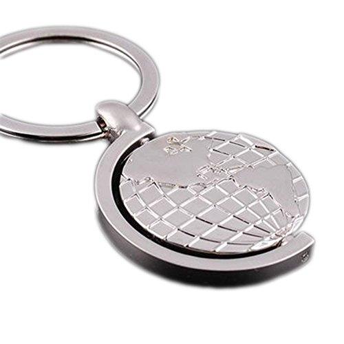 geo-versand Schlüsselanhänger World Spinner - Silber -