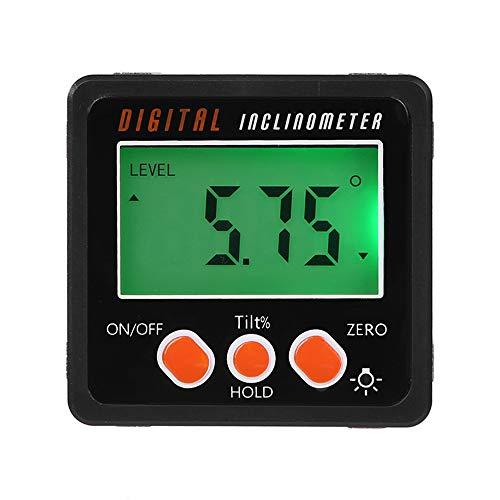 KKmoon Winkelmesser Neigungsmesser Wasserwaage Wasserdicht Bevel Box Winkelmessgerät Digitaler LCD Inklinometer Schwarz