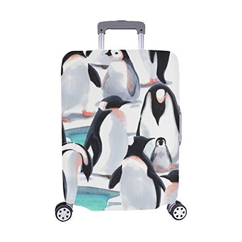 (Nur abdecken) Witn Penguins Spandex Staubschutz Trolley Protector case Reisegepäck-Schutzkoffer-Abdeckung 28,5 X 20,5 Zoll