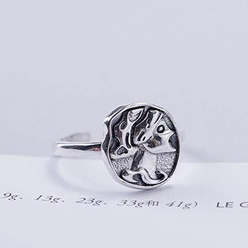 XAFXAL Damenring 925 Silber Verstellbar Vintage,Geprägte Königin Vintage Persönlichkeit'S Fashion Frauen Ring Für Den Valentinstag Verlobung Geburtstag Geschenk Frauen Ring (Königin Der Diamanten Für Erwachsene Kostüm)