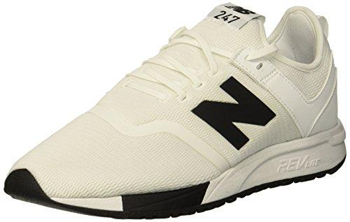 New Balance Herren 247v1 Sneaker, Weiß (White/Black D3), 42 EU -