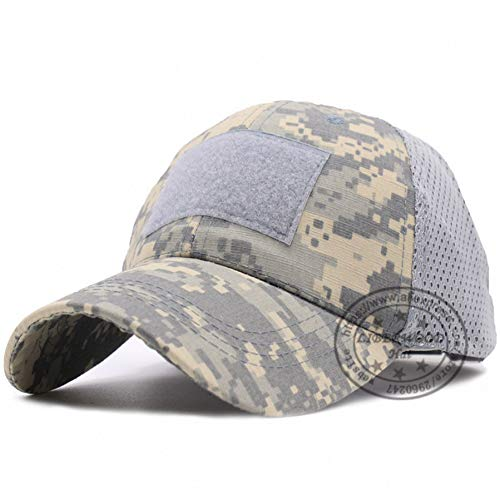 SADUZI Baseballmütze Betreiber Hut Camo Mesh Cap Airsoft Hut Für Männer Tactical Army Baseball Caps Hut, Mesh Digital Grau (Camo-hut Digital)
