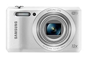 Samsung WB35F 16.2MP Smart WiFi and NFC Digital Camera with 12x Optical Zoom and 2.7-inch LCD (White), 4GB Card, Camera Case