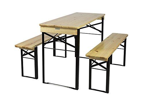 Klappbare Picknicktischgarnitur, Bierzeltgarnitur, hergestellt aus Fichtenholz versehen von...