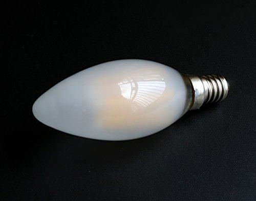 MENTA Bombillas Filamento LED E14 en Forma de Vela, Incandescente Equivalente a 40w, Blanco cálido 2700k 4W, Casquillo Fino E14 SES, AC 200-240V, Pack de 6 Unidades