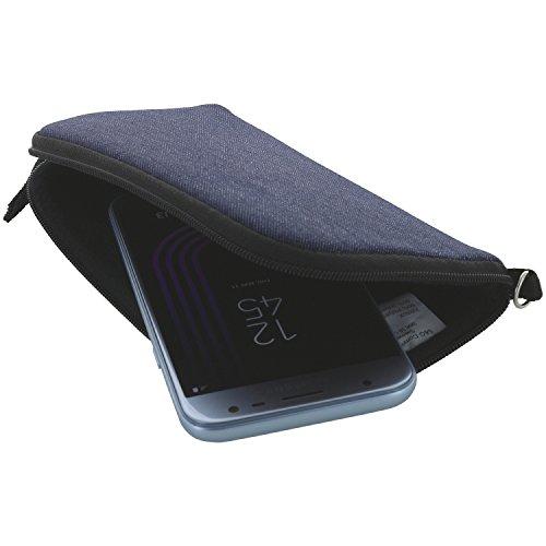 XiRRiX Handyhülle mit Handschlaufe 7.2 - universal Größe 3XL für Huawei Honor 7X Mate 20 Pro/Lite/View 10 20 - Handytasche dunkel blau