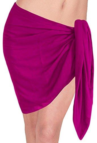 metà mini pareo coprire solida costumi da bagno normale costume da bagno all'altezza sciarpa del bikini Rosa