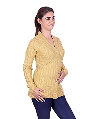 eWools Women's Gold Wool Sweater