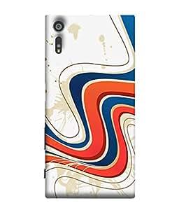FUSON Designer Back Case Cover for Sony Xperia XR (Vector Digital Illustration Best Wallapper Pattern)