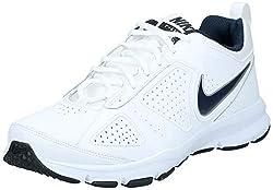 Nike Herren T-Lite Xi Low-Top, Weiß (White/Obsidian-Black-Metallic Silver 101), 41 EU
