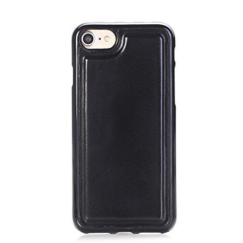 iPhone Case Cover IPhone 6s 7 Plus Case, 2 en 1 étui en cuir PU Housse de protection multifonctionnelle avec fonction de portefeuille pour Apple iPhone 6s 7 Plus ( Color : Blue , Size : Iphone6s ) Black