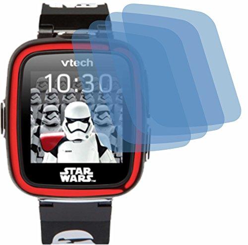 4ProTec 4X Crystal Clear klar Schutzfolie für Vtech Kidizoom Starwars Stormtrooper Watch Displayschutzfolie Bildschirmschutzfolie Schutzhülle Displayschutz Displayfolie Folie (Watch Star Wars)