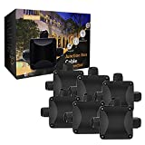6pcs Caja de Conexiones,Beautystar IP68 Impermeable cajas de conexión de cables con 3 Vías subterráneo cajas conexiones electricas para Cable de Diáme