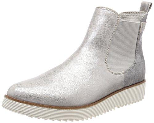 s.Oliver Damen 25410 Chelsea Boots, Silber (Silver Comb), 40 EU