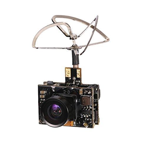 GoolRC Cámara 800TV FPV 5.8G 40CH 25/100 / 200mW Transmisor Clover Antena para Inductrix QX90 H36 T36 NH-010 Micro Racing Drone