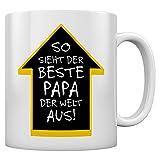 So Sieht Der Beste Papa der Welt Aus - Vater Kaffeetasse Tee Tasse Becher 11 Oz. Weiß